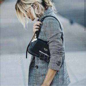 Figleaffashion black checked oversized blazer